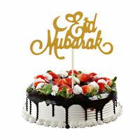 Islam Musulman Décoration Gateau Gâteau Diy Décor Eid Mubarak Fête Supply Neuf
