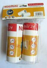 New port utility rolli ricamni 24x2 2 ricambi per spazzola adesiva 24 fogli