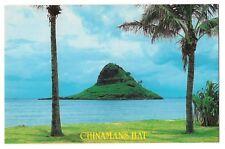 CHINAMAN'S HAT Coolie Island off of Oahu Hawaii Postcard HI TV Commercials