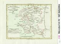Dépt 29 - XVIII ème Superbe Carte Gravure Cuivre Aquarellée An VI (1797/1798)