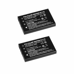 2x Battery for Jazz HDV178 HDV188 HDV205 DV177 DV169 DV179 HD Camera