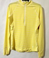 Mountain Hardwear Women's Small Stripe Long Sleeve 1/2 Zip Base Layer Shirt Top