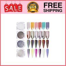Polvo Efecto Espejo Para Uñas Polvos Maquillaje Con Brillo Holográfico 4 Colores