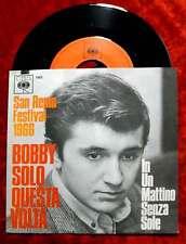 Single Bobby Solo: questa volta (San Remo 1966) (CBS 1993) D 1966
