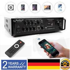 Schwarz HiFi Verstärker Bluetooth Stereo-Amplifier Audio Stereo Adapter Karaoke