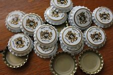 100 AGNER & WOLF BEER BOTTLE CAPS WHITE SWORD & WOLF UNCRIMPED FREE FAST SHPNG