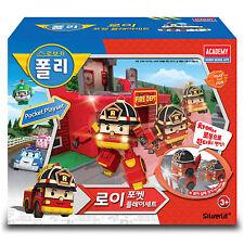 Robocar Poli Pocket Playset Roy Toy Car Storage Lift Character Children Kids