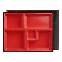 Katachiware Traditional Red & Black Bento Box