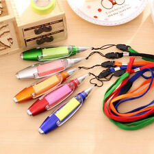 Led Light Note Sticky Paper Ballpoint Pen With Lanyard Office Student Pen Gifts