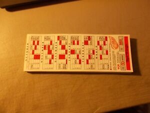 LOT OFABOUT 100  DETROIT RED WINGS POCKET SCHEDULES NEVER FOLDED FROM 1990-91