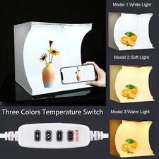 Light Box Photo Studio Photography Mini LED Lighting Cube Room Backdrop Tent