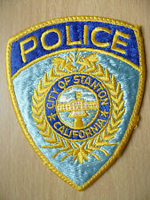 Patches: CITY OF STANTON CALIFORNIA POLICE PATCH (New,Approx. 4.8x3.12 inch)