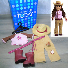 American Girl Doll Clothes HORSE LOVER OUTFIT Brush Apple Boots Belt Hat Top +