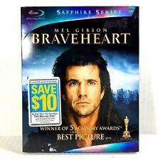 Braveheart (2-Disc Blu-ray, 1995, Widescreen Sapphire Ed) Brand New w/ Slip !