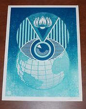 Shepard Fairey Flint Eye Alert Globe 2017 Poster Obey Giant Water Crisis S/# 450