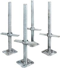 Leveling Jacks 24 In. Steel Scaffolding Adjustable Heavy Duty Base Plate 4 Pack