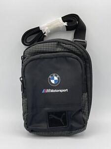 PUMA LS BMW M Motorsport Small Portable Travel Shoulder Bag Black NWT