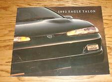 Original 1992 Eagle Talon Deluxe Sales Brochure 92