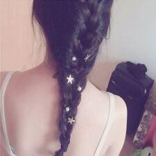 5Pcs Women Gold Star Hair Clips Hairpin Spiral Hair Claw Stick Hair Accessories