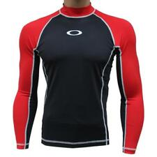 Oakley Reflector LS Red Line L Large Rashie Long Sleeve Mens Swim Surf Rash Vest