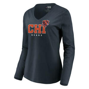 Chicago Bears Women's Long Sleeve V-Neck Tee - NWT - FREE SHIPPING!