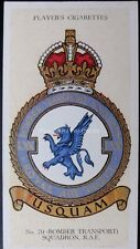 No.39 (BOMBER TRANSPORT) 70 SQUADRON - R.A.F. BADGES with MOTTO - Players 1937