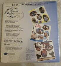 Creative Memories 4 Oval Cutting System Patterns & Sizing Template New Scrapbook