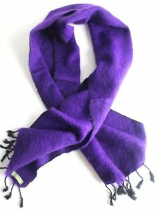 Purple Black Three Ply Woolen Muffler