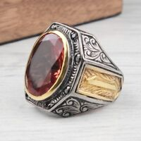 Turkish 925 Sterling Silver Alexandrite COLOR CHANGİNG Mens Man ring ALL SİZE us