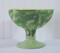 Vintage Horton Ceramics Texas C 07 Green Pedestal Bowl Planter Footed Watermelon
