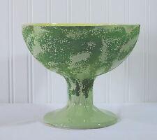 Vintage Horton Ceramics Texas C 07 Green Pedestal Bowl Planter Footed Signed