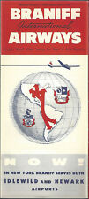 Braniff International Airways system timetable 3/1/58 [7032]