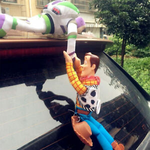 Toy Story 4 Sheriff Woody + Buzz Lightyear Car 2PC Plush Doll Hanging Xmas Gift