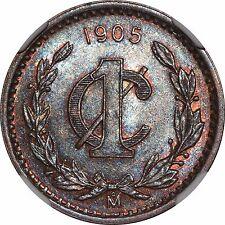 Mexico 1 Centavo Mo 1905, NGC MS64 BN. KM# 415