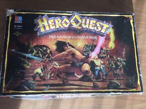 Hero Quest Board Game Milton Bradley 1989