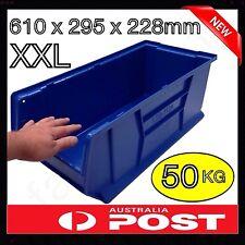 MASSIVE XXL 50KG STORAGE SPARE PARTS PLASTIC BIN STACKABLE COMMERCIAL QUALITY
