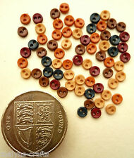 RUSTIC MICRO MINI 4mm Craft Buttons 1ST CLASS POST Tiny Baby Doll Small Clothes