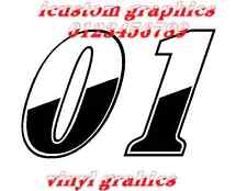 tt motorbike race stock car racing numbers rally  vinyl graphic decal sticker