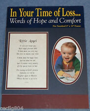 """IN YOUR TIME OF LOSS"""" LITTLE ANGEL"""" WORDS OF HOPE AND COMFORT SYMPATHY FRAME MAT"""
