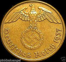 Germany - German 2 Reichspfennig Coin  German World War 2 Coin - RARE COIN