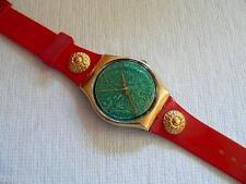 1988 Christmas Special Swatch Watch Pompadour GX106.