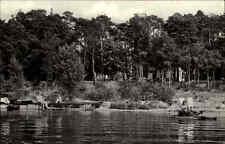 Pieskow Kreis Beeskow AK ~1965 DDR Schwielochsee See Badesteg Menschen Tretboot