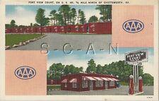Original Vintage Gas Station & Motel- Triple AAA- Fort View Court Chattsworth GA