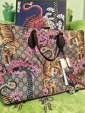 New authentic Gucci BENGAL tiger soft GG large tote purse TIAN Cruise 2017 $1350