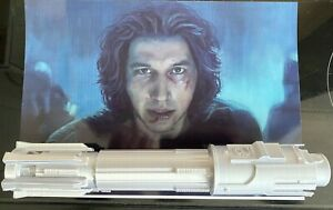 1:1 Scale - 3D Printed Ben Solo Lightsaber Hilt Cosplay/Prop/Collectable