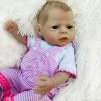 """22"""" Ganzkörper Weiches Silikon Vinyl Reborn Baby Girl Puppe Anatomisch korrekt"""
