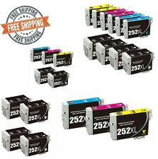 Black Color Ink For Epson 252XL Printer WorkForce WF3620 WF3640 WF7110 Multipack