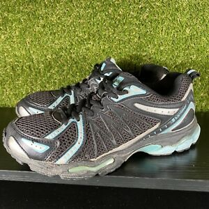 Womens Karrimor Exercise Running Gym Trainers - Black Blue - Size UK 5.5 EU 38.5