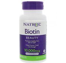 Natrol, Biotin, BEAUTY, 10,000 mcg, 100 Tablets VEGETARIAN