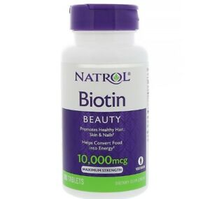 Natrol, Biotin, BEAUTY, 10,000 mcg, 100 Tablets VEGETARIAN